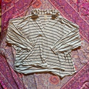 Free People Striped Knit Tee - size S